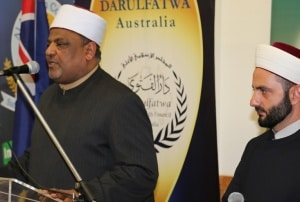 Prof Dr Abbas giving a speech