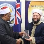 Dr Sheikh Salim Presenting a Souvenir to Prof Abbas