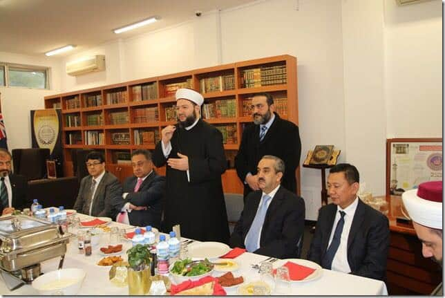 دار الفتوى أستراليا تولم على شرف السفير المغربي وعدة سفراء