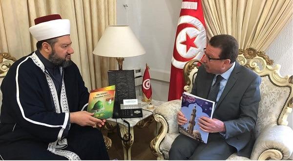 الأمين العام لدار الفتوى في زيارة ودية لوزير الشؤون الدينية التونسي