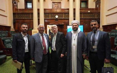 زيارة أمين عام دار الفتوى الأسترالية وأمين عام المجلس العالمي للمجتمعات المسلمة لبرلمان ولاية فيكتوريا بحضور النائب بروس أتكينسون .10-4-2019